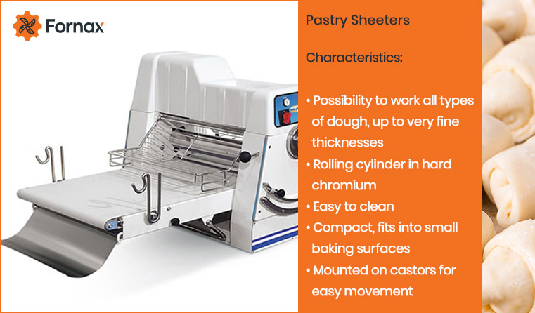 pastry sheeter for bakery pastry